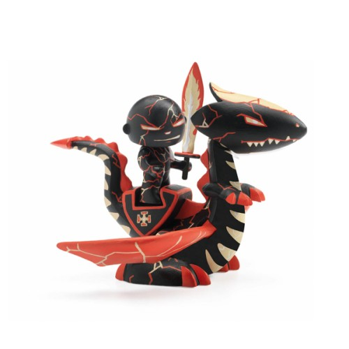 Figurine et dragon Drago & Volcano chevalier arty toys - Djeco