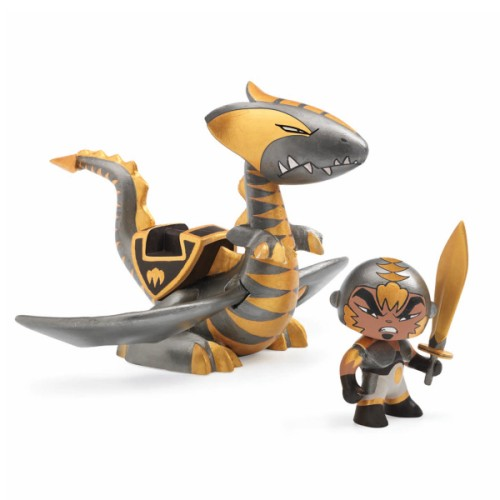 Figurine et dragon Chrome & Inferno chevalier arty toys - Djeco