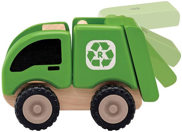 Camion poubelle en bois - Wonderworld