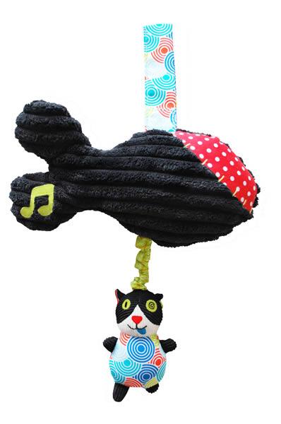 Doudou musical Charlos le chat - Les Déglingos