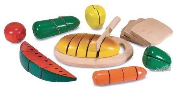 Pain à découper jouet en bois