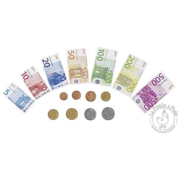 Pièces et billets pour jouer marchande enfant