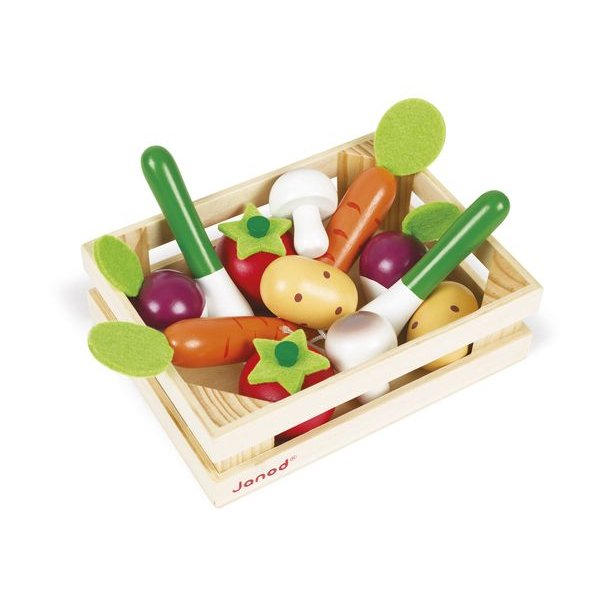 Légumes en bois pour jouet dinette
