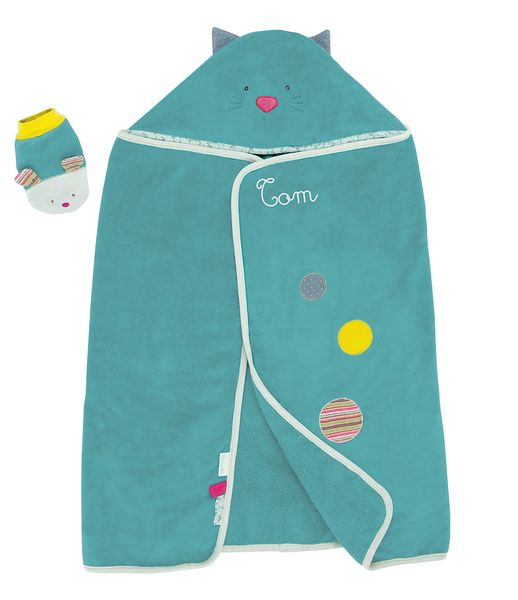 Cape de bain personnalisable pour bébé fille ou garçon