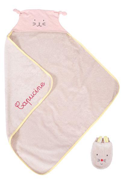 Cape de bain personnalisable pour bébé cadeau de naissance