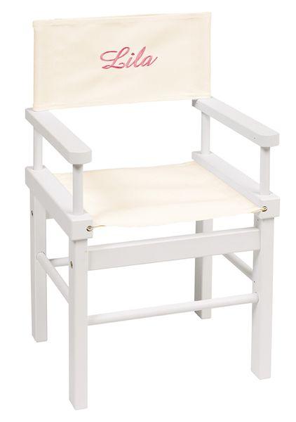 Petite chaise de cinéma avec prénom de l'enfant