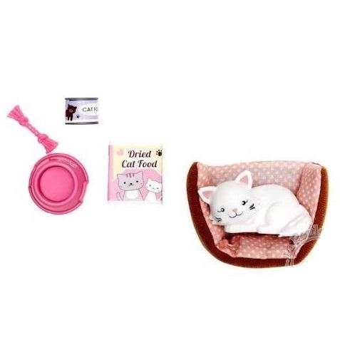 Chat et accessoires pour jouer à la poupée Lottie