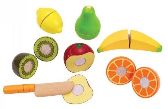Fruit en bois à découper