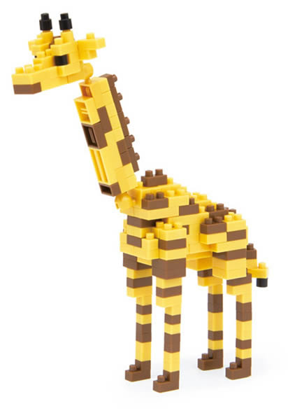 nanoblock girafe jeu de construction