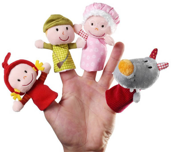 Marionnettes de doigt Petit chaperon rouge