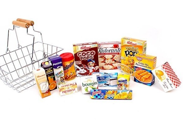 Panier course aliments pour enfant dinette