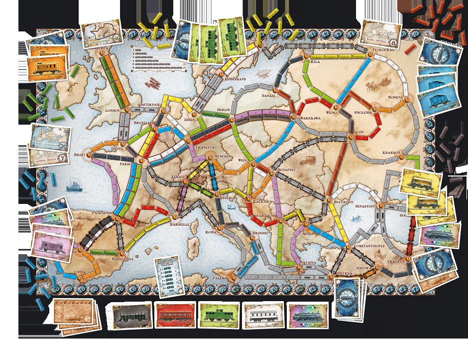 plateau de jeu aventuriers du rail europe