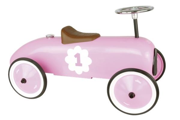voiture porteur métal rose vilac