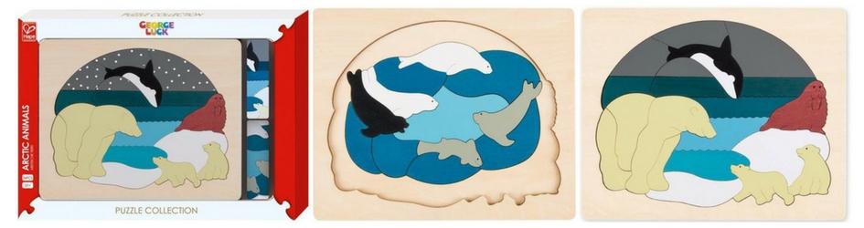Puzzle en bois animaux polaires niveaux