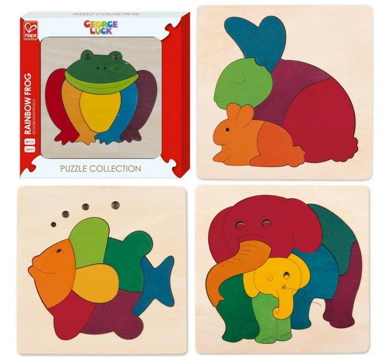 Puzzle en bois animaux jouet d'éveil