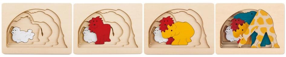 Puzzle en bois animaux de la jungle