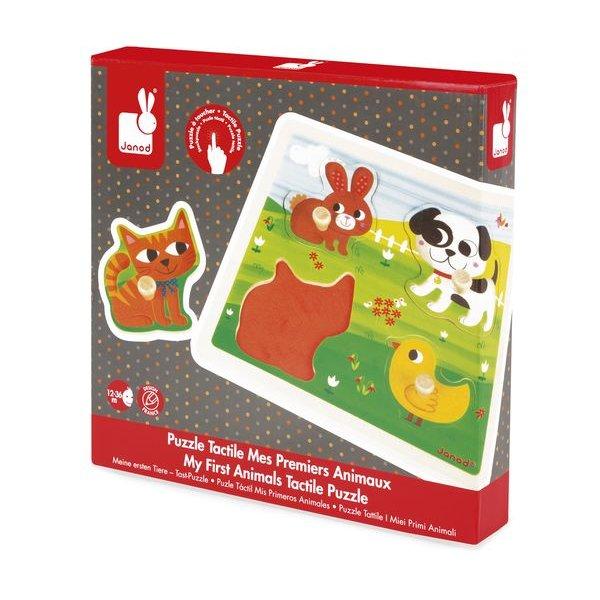 puzzle tactile mes premiers animaux janod