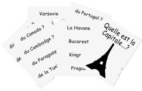 Jeu pour apprendre les capitales des pays du monde