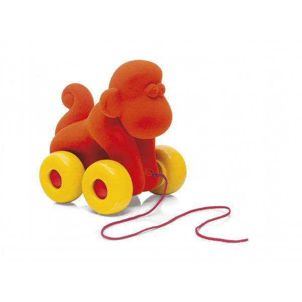 Singe à tirer jouet enfant en caoutchou