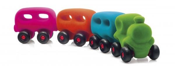 Train avec wagons magnétiques