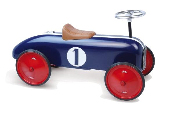 voiture porteur métal bleu vilac