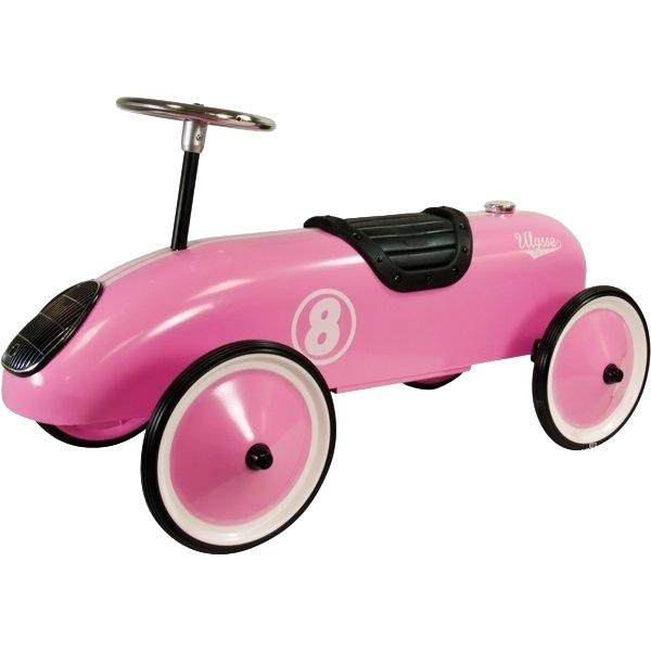 voiture porteur rose métal ulysse