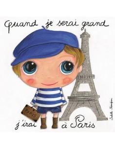 Tableau Paris garçon -...