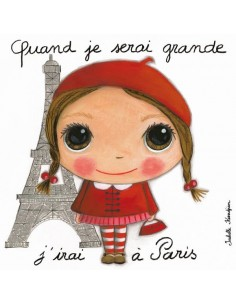 Tableau Paris fille - Quand...