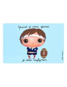 Set de table rugbyman -...