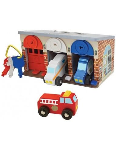 Garage à verrouiller avec véhicules -...
