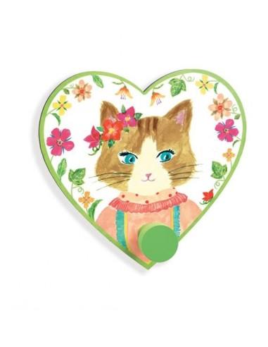 Patère Miss Cat - porte manteau Djeco