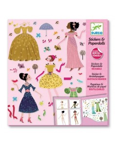 Robes des 4 saisons stickers paper doll