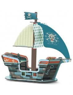 Bateau pirate décor Pop to play 3D