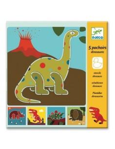 Pochoirs dinosaures - Djeco