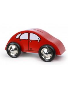 Tirelire voiture en bois -...