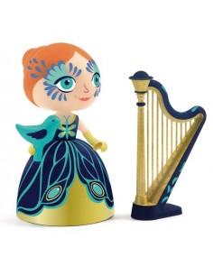 Elisa et sa harpe princesse...