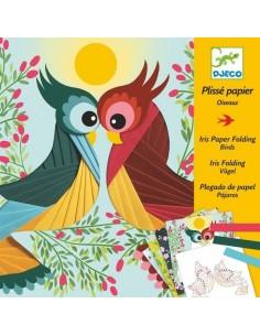 Plissé papier oiseaux