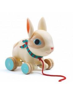 Colin le lapin jouet à tirer