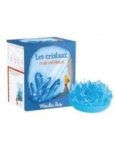 Cristaux merveilleux bleus...