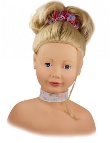 Tête à coiffer et à maquiller blonde...