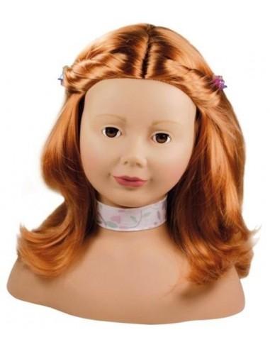 Tête à coiffer et à maquiller rousse...