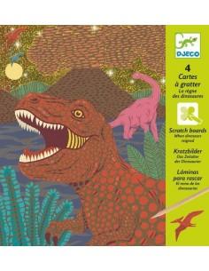Cartes à gratter dinosaures...