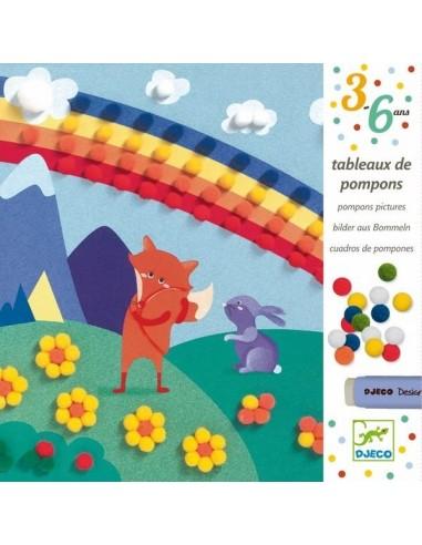 Collage de pompons en douceur - Djeco