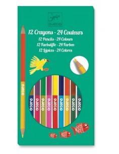 Crayons de couleurs doubles côtés