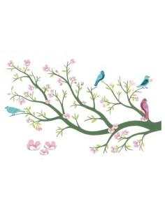 Stickers muraux 3D cerisier en fleurs