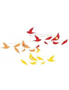 Mobile en papier Oiseaux en...