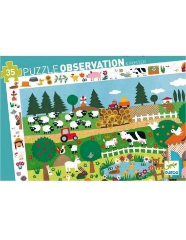 Puzzle d'observation La ferme - Djeco