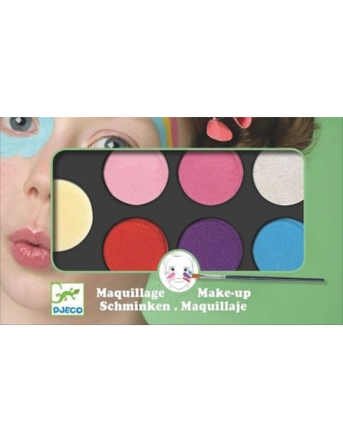 Maquillage palette 6 couleurs sweet -...