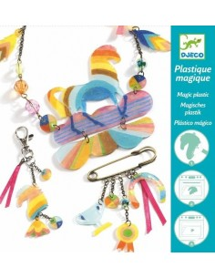"""Bijoux plastique magique """"cheval arc en ciel"""""""