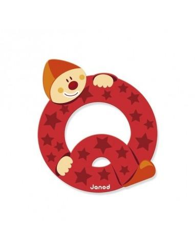 Lettre Bois Clown Q - Janod
